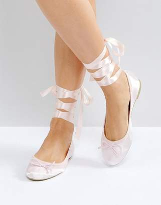 Vero Moda Tie Up Ballerina Pumps