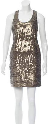 Robert Rodriguez Sequined Sleeveless Dress