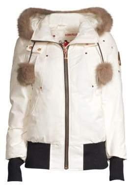 Moose Knuckles Yorkdale Fox Fur Trimmed Bomber