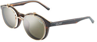 Quay Penny Royal Double-Lens Flip-Up Round Sunglasses