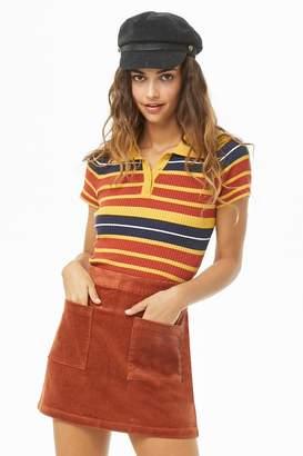Forever 21 Corduroy Patch Pocket Mini Skirt