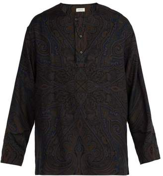 Lemaire Paisley Print Wool Blend Shirt - Mens - Multi