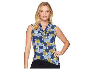 Anne Klein Triple Pleat Top Women's Clothing