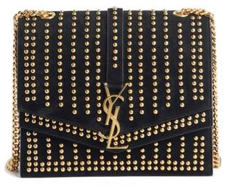 Saint Laurent Medium Sulpice Studded Leather Shoulder Bag