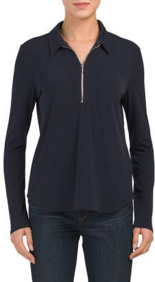Long Sleeve Shirt With Zipper Front