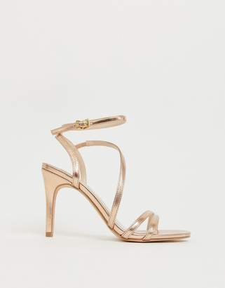 a77a74740145 Faith Delly rose gold strappy heeled sandals