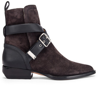Chloé Rylee Buckle Boots in Black | FWRD