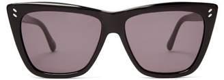 Stella Mccartney - Cat Eye Acetate Sunglasses - Womens - Black