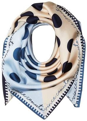 Vince Camuto Polka Stripe Silk Square Scarves