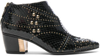 Rodarte for FWRD Embossed Studded Leather Booties