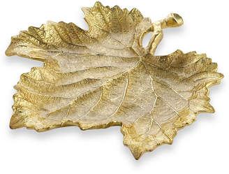 Michael Aram Gold Grape Leaf Snack Plate