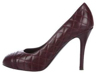 Chanel Quilted Cap-Toe Pumps