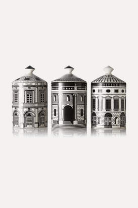 Fornasetti Ordine Architettonico Set Of Three Candles, 3 X 300g - Colorless