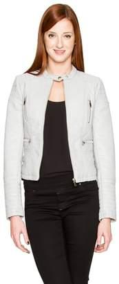 Le Château Women's Faux Leather Moto Jacket,S