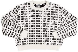 MSGM Logo Jacquard Knit Sweater