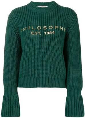 Philosophy di Lorenzo Serafini knitted logo sweater