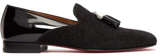 Christian Louboutin Tassileon Patent Leather Loafers - Mens - Black
