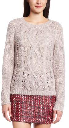 Kookai Women Pull torsadé Printed Round Collar Long sleeve Jumper