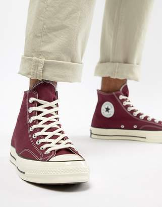 Converse Chuck Taylor All Star '70 Hi Sneakers In Burgundy 162051C