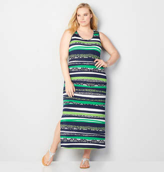 Avenue Animal Stripe Maxi Dress