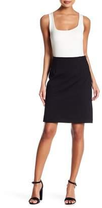 Amanda & Chelsea Polka Dot Ponte Comfort Waist Pencil Skirt (Petite)