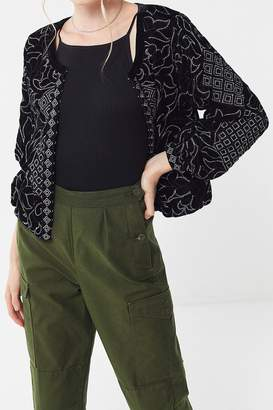 Urban Outfitters Margeaux Velvet Embroidered Jacket
