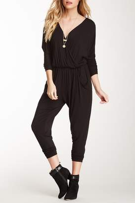 Loveappella Long Sleeve Cropped Pant Jumpsuit
