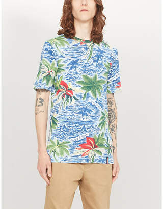 Tommy Hilfiger Palm-print cotton-jersey T-shirt