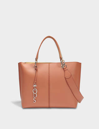 Tod's Joy Anelli Shopping Bag in Orange and Flanelle Leather