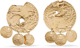 Alighieri - Baby Lion Gold-plated Earrings
