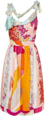 Emilio Pucci Floral Print Silk Dress