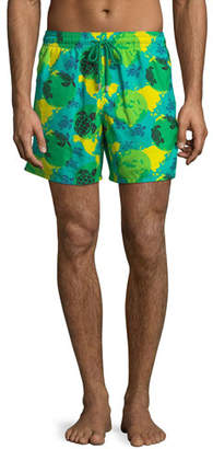 Vilebrequin Moorea World Map & Turtles Swim Trunks