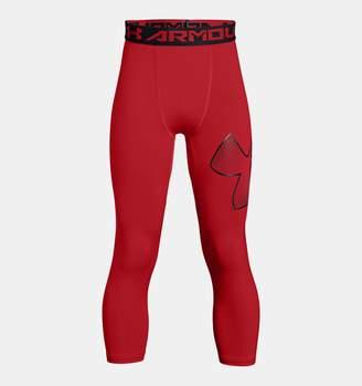 Under Armour Boys' HeatGear Armour Logo Leggings