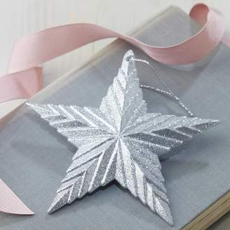 The Christmas Home Silver Star Christmas Decoration