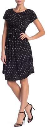 WEST KEI Polka Dot Print Twist Dress