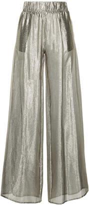 Black Coral wide leg trousers