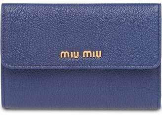 Miu Miu (ミュウミュウ) - Miu Miu Madras flap wallet