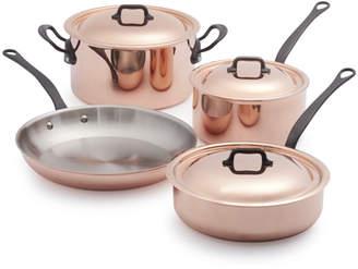 Mauviel Jacques Pepin Copper 7-Piece Cookware Set
