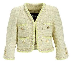 Marc Jacobs Women's Velvet-Trim Jacket - Size 0
