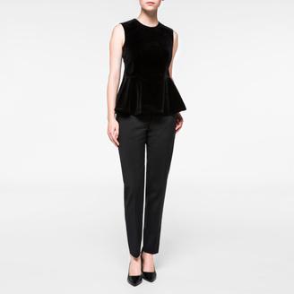 Women's Black Velvet Peplum Top $295 thestylecure.com
