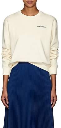 Off-White Women's Logo-Embroidered Crop Sweatshirt