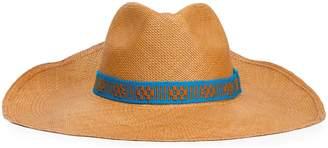 Yosuzi Embroidered Straw Panama Hat