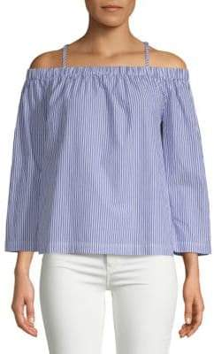 Saks Fifth Avenue Adjustable Strap Off-Shoulder Top