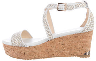 Jimmy ChooJimmy Choo Woven Platform Sandals