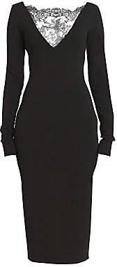 Givenchy Women's Lace Yoke Evening Sheath Dress