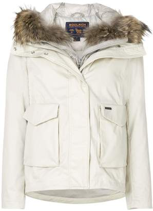 Woolrich fur-trim zipped jacket