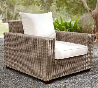 Pottery Barn Square-Arm Occasional Chair Cushion Slipcover