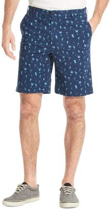 Izod Tropical Print Stretch Twill Shorts