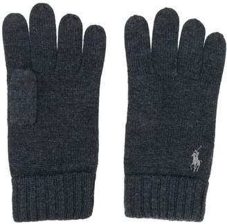 Polo Ralph Lauren logo-embroidered gloves