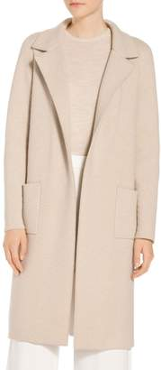 St. John Quilted Twill Jacquard Knit Coat